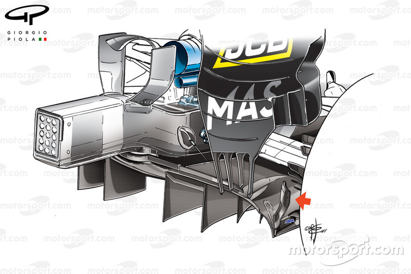 Williams FW40 diffuser, Monaco GP