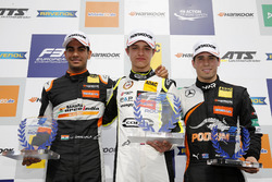 Rookie Podium: Winner Lando Norris, Carlin Dallara F317 - Volkswagen, second place Jehan Daruvala, Carlin, Dallara F317 - Volkswagen, third place Joey Mawson, Van Amersfoort Racing, Dallara F317 - Mercedes-Benz