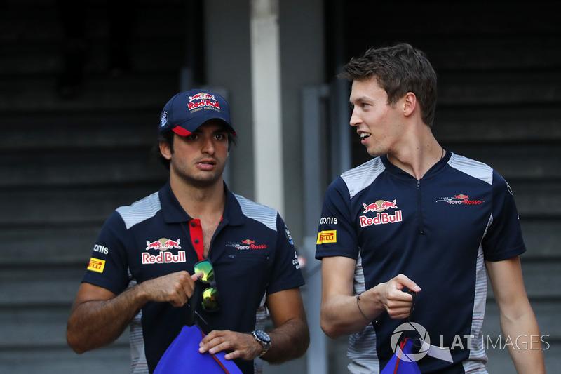 Carlos Sainz Jr., Scuderia Toro Rosso and Daniil Kvyat, Scuderia Toro Rosso