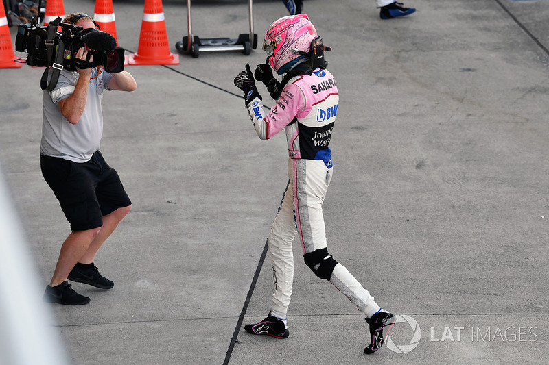 Esteban Ocon, Sahara Force India F1 celebra