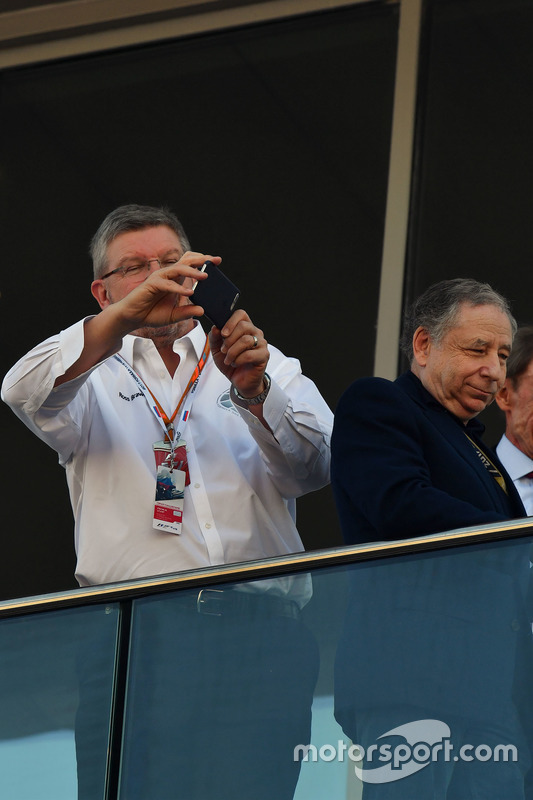 Ross Brawn, Formula One Managing Director of Motorsports and Jean Todt, FIA President