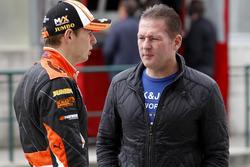 Max Verstappen, Van Amersfoort Racing Dallara F312 - Volkswagen with his father Jos Verstappen