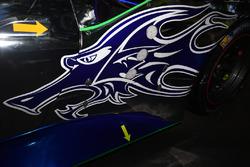 Автомобиль Ferrari 488 GTE команды Clearwater Racing, фрагмент