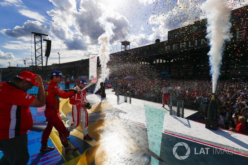 Podium: 1. Felix Rosenqvist, Mahindra Racing; 2. Lucas di Grassi, ABT Schaeffler Audi Sport; 3. Nick Heidfeld, Mahindra Racing
