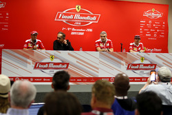 Press Conference: Sebastian Vettel, Ferrari; Sergio Marchionne, President Ferrari; Maurizio Arrivabe