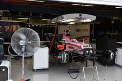 Sahara Force India VJM10 in the garage
