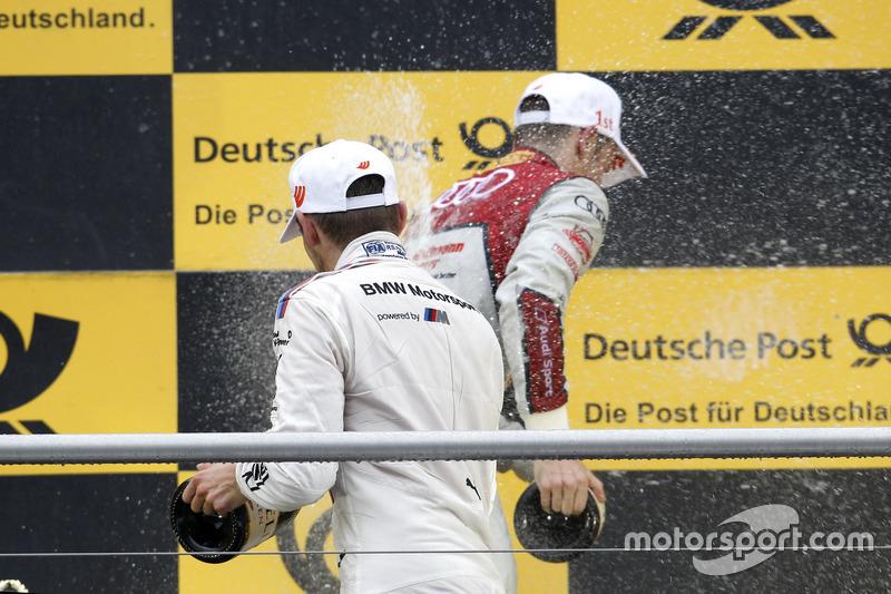 Подіум: Марко Віттманн, BMW Team RMG, BMW M4 DTM і Джеймі Грін, Audi Sport Team Rosberg, Audi RS 5 DTM