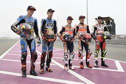 Marc Marquez, Repsol Honda Team; Jack Miller, Estrella Galicia 0,0 Marc VDS; Tito Rabat, Estrella Galicia 0,0 Marc VDS; Dani Pedrosa, Repsol Honda Team; Cal Crutchlow, Team LCR, Honda