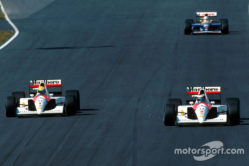 Ayrton Senna y Gerhard Berger, McLaren Honda MP4/6 (1991)