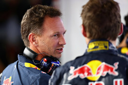 Max Verstappen, Red Bull Racing con Christian Horner, director del equipo Red Bull Racing