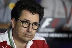 Mattia Binotto, Ferrari Chief Technical Officer in the FIA Press Conference
