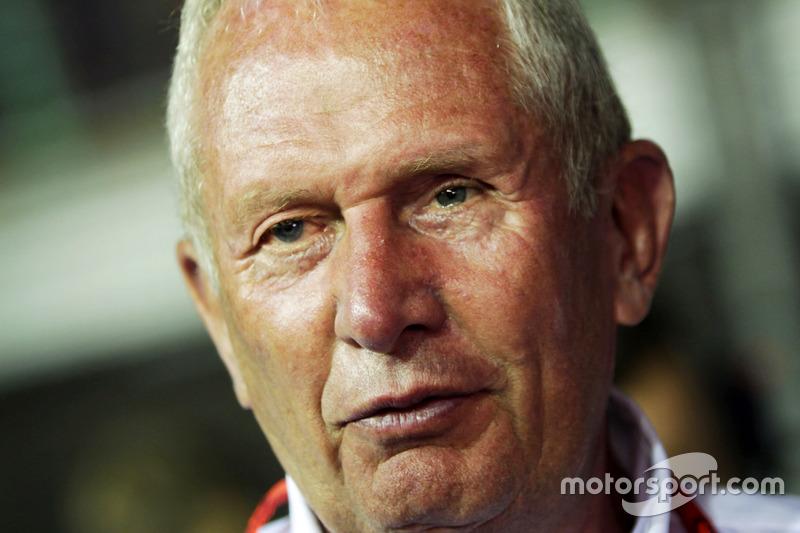 Dr Helmut Marko, Red Bull Motorsport Consultant on the grid