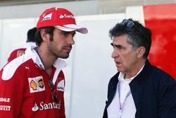 (L to R): Jean-Eric Vergne, Ferrari Test and Development Driver with Julian Jakobi (GBR)