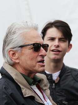 Michael Douglas, Actor with his son Dylan Douglas