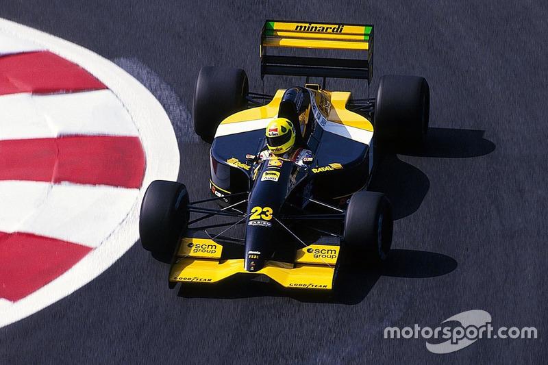"""GP da Itália de 1992: """"Não consegui classificar. Foi logo depois de um acidente e meu pescoço e eu não estávamos legais, não teve nada a ver com o carro."""""""