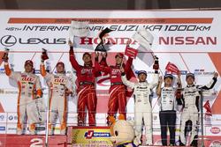 Podyum GT500: 1. #38 Team Zent Cerumo Lexus RC F: Yuji Tachikawa, Hiroaki Ishiura, 2. #36 Team Tom's