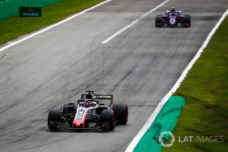 Romain Grosjean, Haas F1 Team VF-18, Pierre Gasly, Toro Rosso STR13