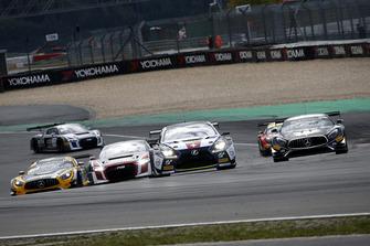 #14 Emil Frey Lexus Racing Lexus RC F GT3: Christian Klien, Albert Costa, #90 Akka ASP Team Mercedes-AMG GT3: Jack Manchester, Nico Bastian