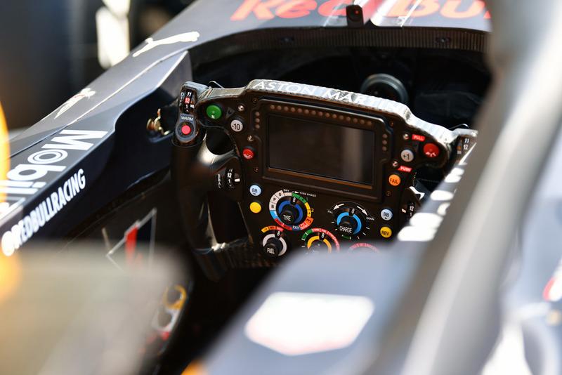Red Bull Racing RB14 steering wheel