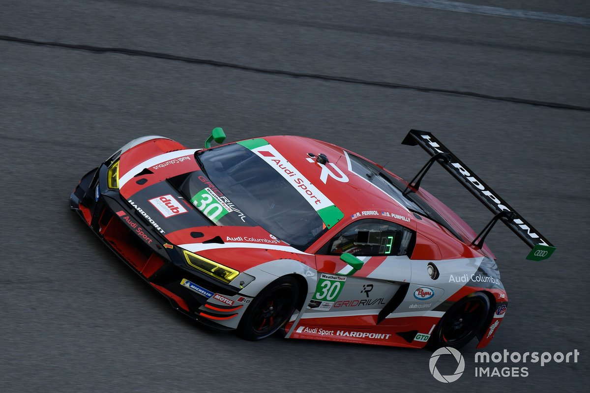 #30: Team Hardpoint Audi R8 LMS GT3, GTD: Rob Ferriol, Spencer Pumpelly