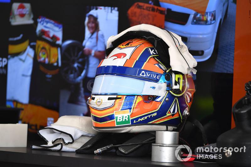 Lando Norris, McLaren helmet
