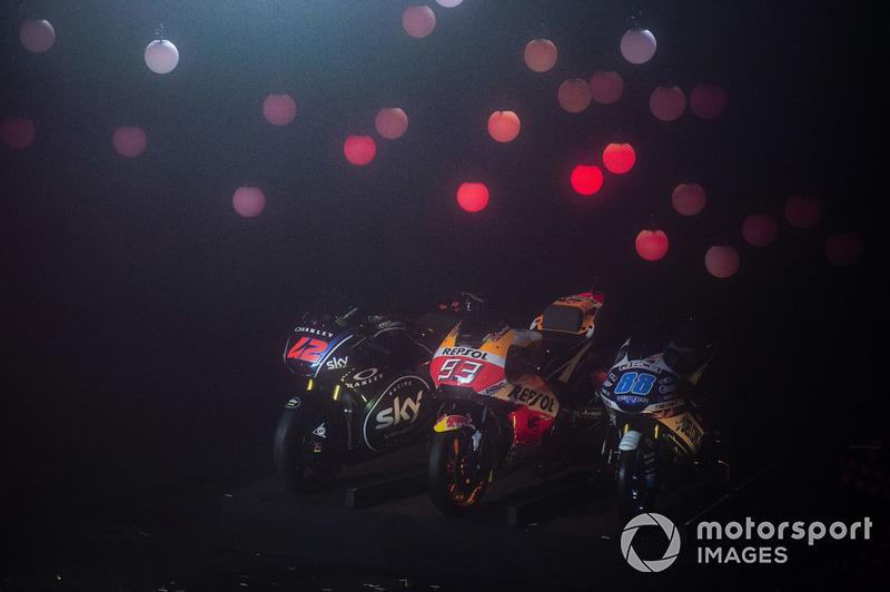 Francesco Bagnaia, Sky Racing Team VR46, Marc Marquez, Repsol Honda Team, Jorge Martin, Del Conca Gresini Racing, bikes