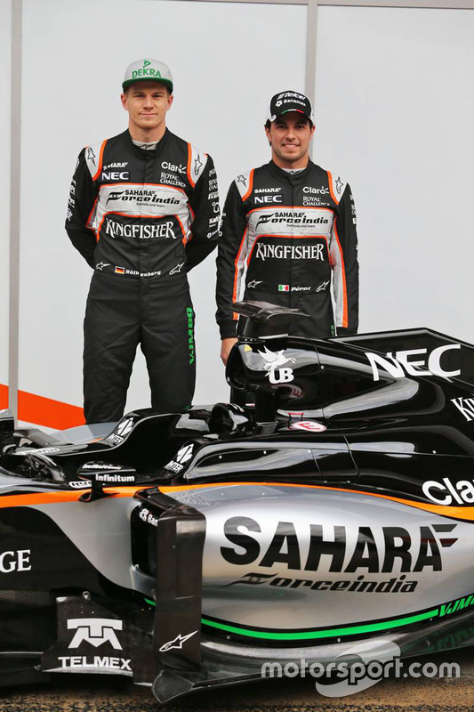 Sergio Perez, Sahara Force India F1 et Nico Hulkenberg, Sahara Force India F1 unveil the Sahara Force India F1 VJM09
