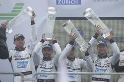 Podium: second place #4 Mercedes-AMG Team Black Falcon Mercedes-AMG GT3: Maro Engel, Adam Christodoulou, Manuel Metzger, Dirk Müller
