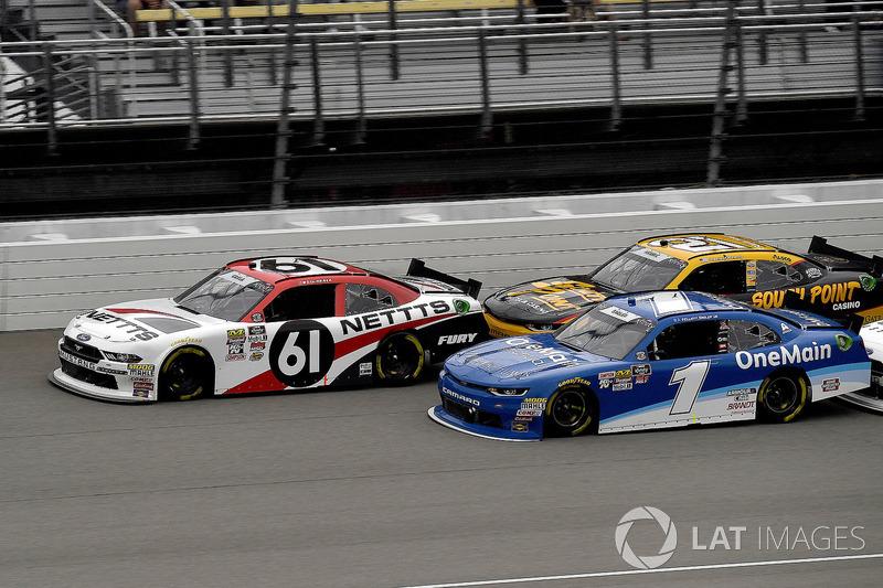 Kaz Grala, Fury Race Cars LLC, Ford Mustang NETTTS and Elliott Sadler, JR Motorsports, Chevrolet Camaro Chevrolet OneMain Financial