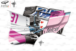 Force India VJM11 rear wing