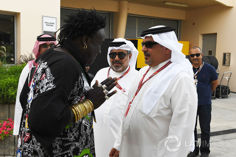 Crown Prince Shaikh Salman bin Hamad Al Khalifa, talks with Memo Rojas, Moko, Chrome Hearts Jewella