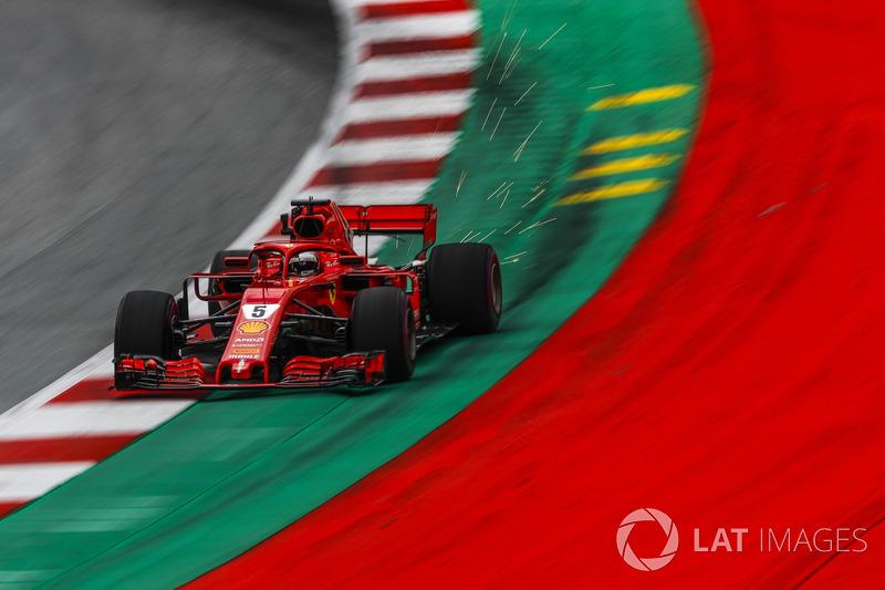 6: Sebastian Vettel, Ferrari SF71H, 1'03.464 (3 posiciones de sanción incluidas)