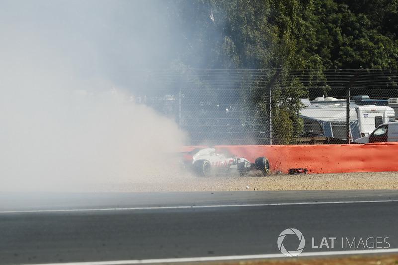 Accidente de Romain Grosjean, Haas F1 Team VF-18