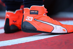 The boots of Max Verstappen, Red Bull Racing