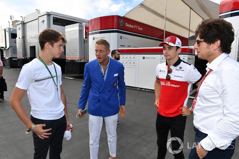 Charles Leclerc, Sauber, Lapo Elkann, Fiat