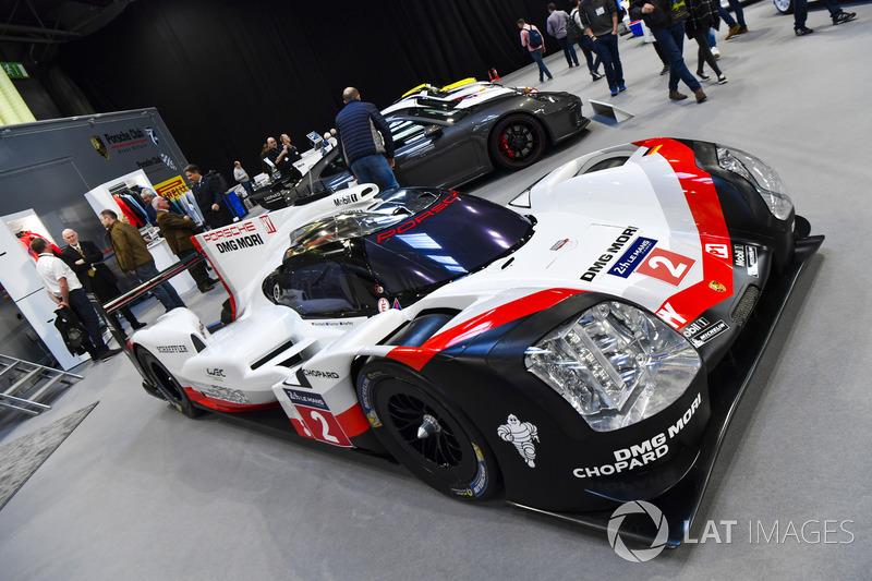A Porsche WEC car on display