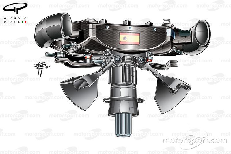 McLaren MCL32, Fernando Alonso's steering wheel