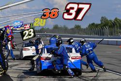 Chris Buescher, JTG Daugherty Racing, Chevrolet Camaro Kleenex Wet Wipes makes a pit stop, Sunoco