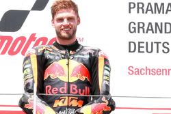 Podium: race winner Brad Binder, Red Bull KTM Ajo Moto2