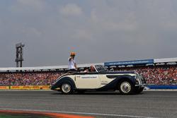 Fernando Alonso, McLaren, at drivers parade