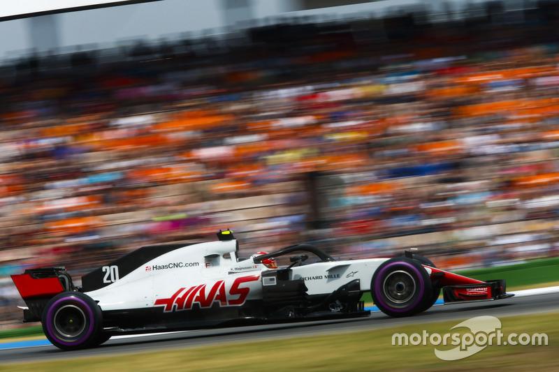 5: Кевін Магнуссен, Haas F1 Team VF-18, 1'12.200
