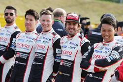 Mike Conway, Jose Maria Lopez, Kamui Kobayashi, Fernando Alonso, Kazuki Nakajima, Toyota Gazoo Racing