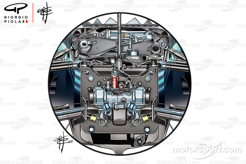 Mercedes W09 front suspension