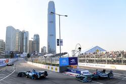 Kamui Kobayashi, Andretti Formula E, leads Mitch Evans, Jaguar Racing