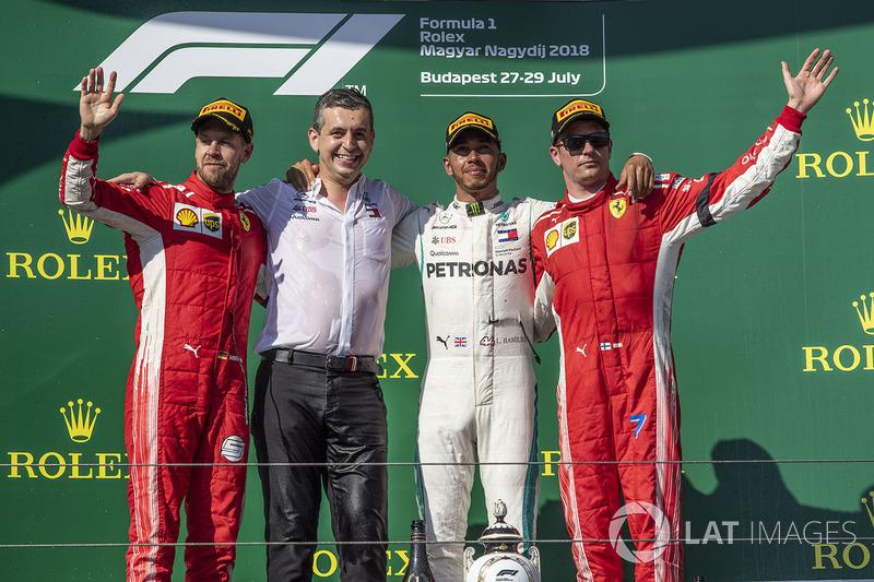 Себастьян Феттель, Ferrari, Льюіс Хемілтон, Mercedes-AMG F1, Кімі Райкконен, Ferrari