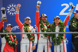 LMGTE Am podium: second place Thomas Flohr, Francesco Castellacci, Giancarlo Fisichella, Spirit of Race