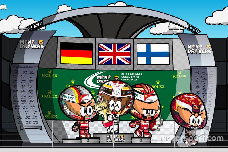 El GP de Estados Unidos de F1 según Los MiniDrivers