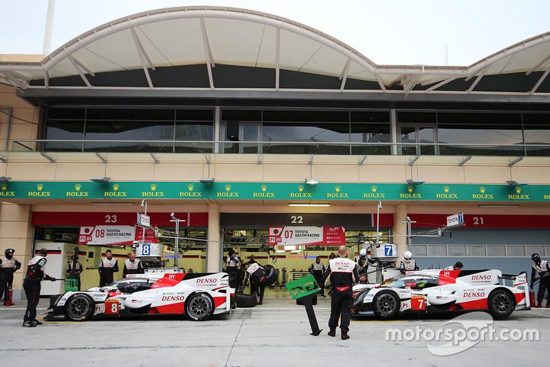 #7 Toyota Gazoo Racing Toyota TS050-Hybrid: Thomas Laurent, Mike Conway, #8 Toyota Gazoo Racing Toyota TS050-Hybrid: Fernando Alonso, Sébastien Buemi