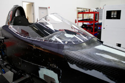 The installed windscreen on the 2018 Indy car in preparation for the first test