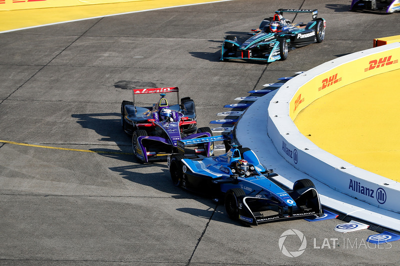 Sébastien Buemi, Renault e.Dams, Sam Bird, DS Virgin Racing, Mitch Evans, Jaguar Racing